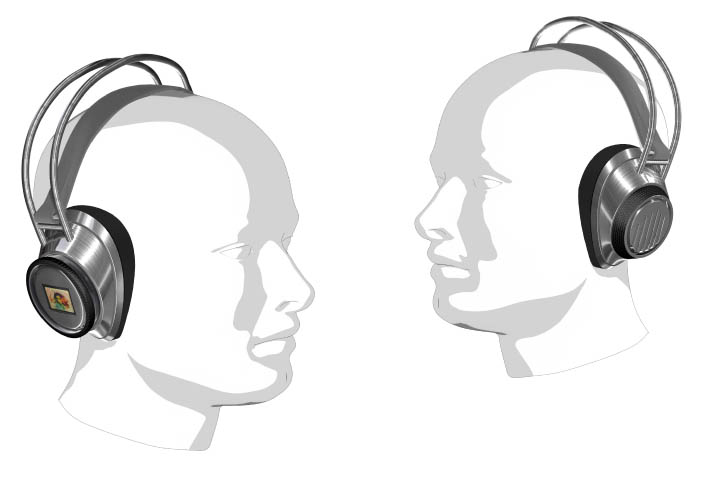 Mp3-Headphones - design by Philipp Wand