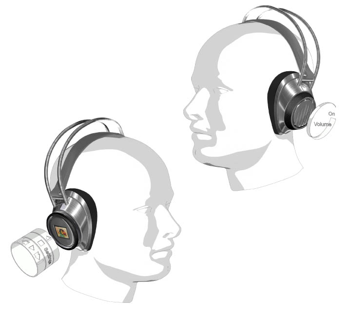 Mp3-Headphones - how to use - design by Philipp Wand